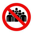 no group sign vector image