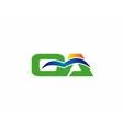 OA initial company group logo vector image vector image