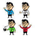 office worker with coffee mascot vector image