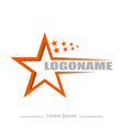on white background logo talent with stars flat vector image