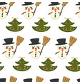 pine evergreen tree decorated with garlands and vector image