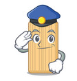 police wooden cutting board character cartoon vector image vector image