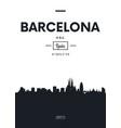 poster city skyline barcelona flat style vector image