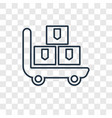 pushcart concept linear icon isolated on vector image
