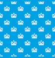 queen crown pattern seamless blue vector image vector image