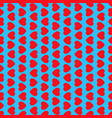 red hearts on blue background seamless pattern vector image