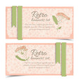 retro floral horizontal banners vector image vector image