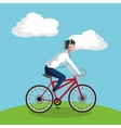 Ride a bike design vector image vector image