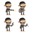 robbers vector image vector image