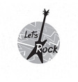 rock music banner musical sign lets rock vector image vector image