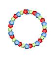 round frame gems precious stones treasures vector image vector image