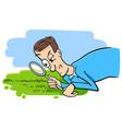 saying watching the grass grow humor cartoon vector image vector image