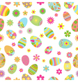 seamless pattern flowers and easter eggs vector image vector image