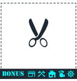 Secateurs icon flat vector image vector image
