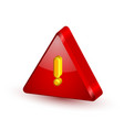 Security alert triangle symbol vector image vector image