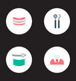 set of enamel icons flat style symbols with mirror vector image