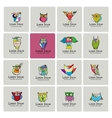 Set of funny owl collection for your design vector image