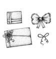 Set of hand drawn ink design elements vector image vector image