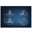 Set of Standard Deviation Chart on Chalkboard vector image vector image