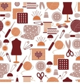Sewing icons seamless pattern vector image vector image