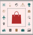 shopping bag symbol elements for your design vector image