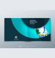 square brochure design teal corporate business vector image