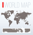 Stippled world map vector image