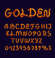 stylish golden font type on dark background vector image