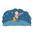 the little princea fairy tale about a boy a rose vector image