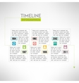 Timeline template infographic suitable for vector image vector image