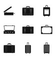 trip luggage icon set simple style vector image