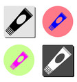 tube flat icon vector image