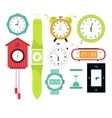 Types of alarms clocks digital vector image vector image
