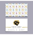 Wedding agency business card event planner vector image vector image