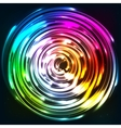Rainbow colors shining neon lights disc vector image