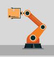 industrial mechanical robotic arm vector image