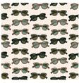Seamless sunglasses pattern vector image