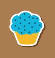sweet dessert in paper sticker muffin vector image