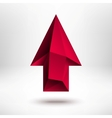 3d Red Up Arrow Sign with Light Background vector image vector image