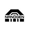 abstract futuristic logo sci fi icon vector image vector image