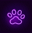 animal trail neon sign vector image