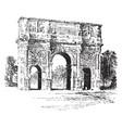 arch constantine a triumphal arch vintage vector image vector image