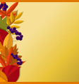 background with red orange brown and yellow vector image vector image