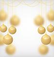 balls gold blur vector image