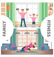 banner set image fitness family training home vector image vector image
