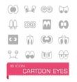 Cartoon eyes icon set vector image vector image