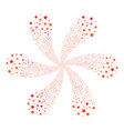confetti stars twirl flower shape vector image vector image