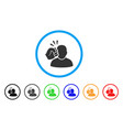 crime violation fist strike rounded icon vector image