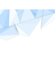 Crystal clean background in blue vector image vector image