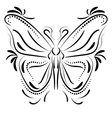 Decorative butterfly element tattoo vector image vector image